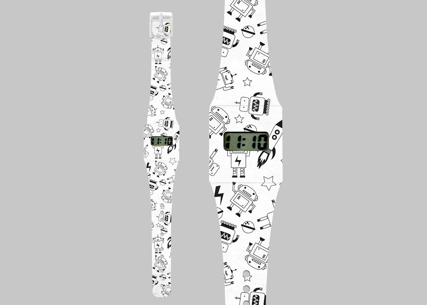 Montre Papier Roboto  - La Boutique Cadeaux