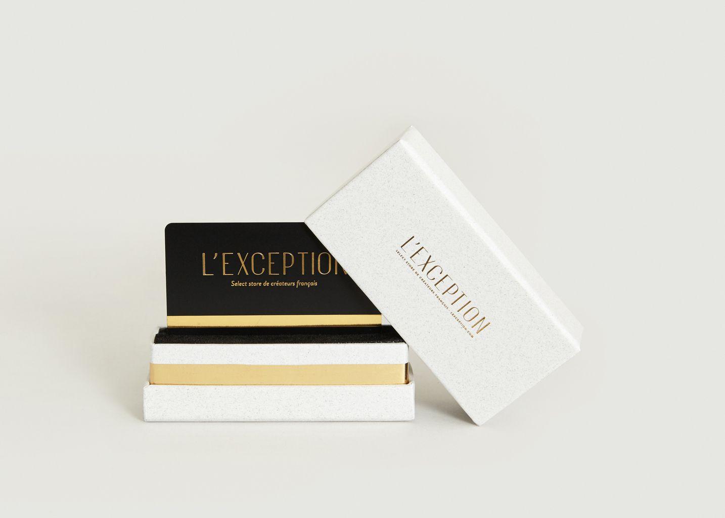 carte cadeau la boutique cadeaux blanc l 39 exception. Black Bedroom Furniture Sets. Home Design Ideas