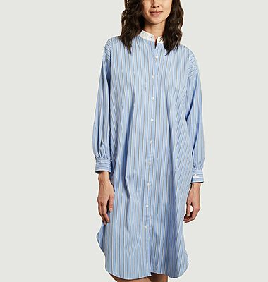 Robe-chemise rayée coupe relax