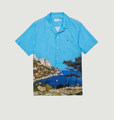 Printed cotton short sleeves shirt