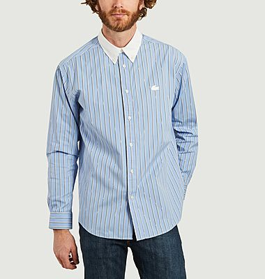 Chemise rayée coupe relax en coton