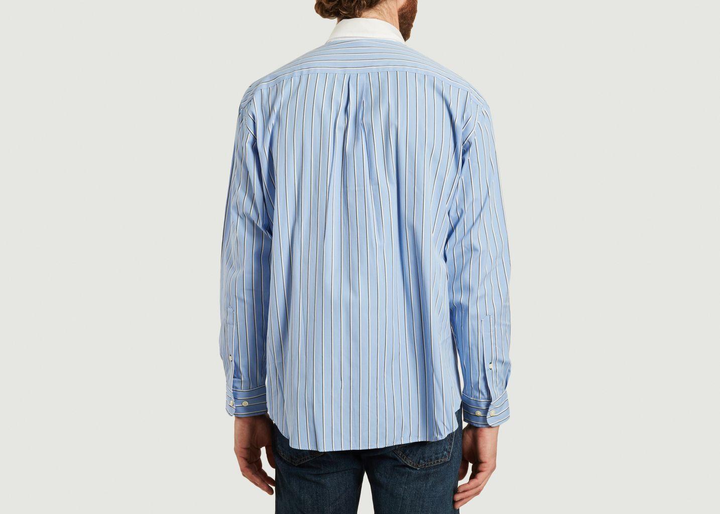 Chemise rayée coupe relax en coton - Lacoste