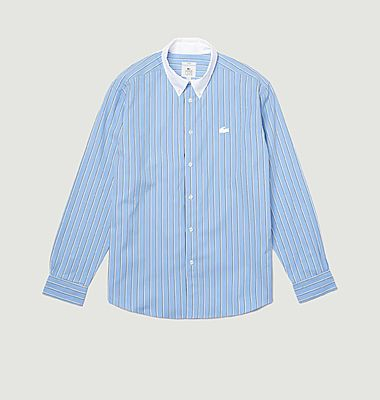 Striped relax fit cotton shirt