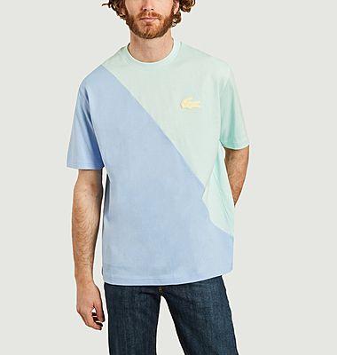 T-shirt loose bicolore en coton