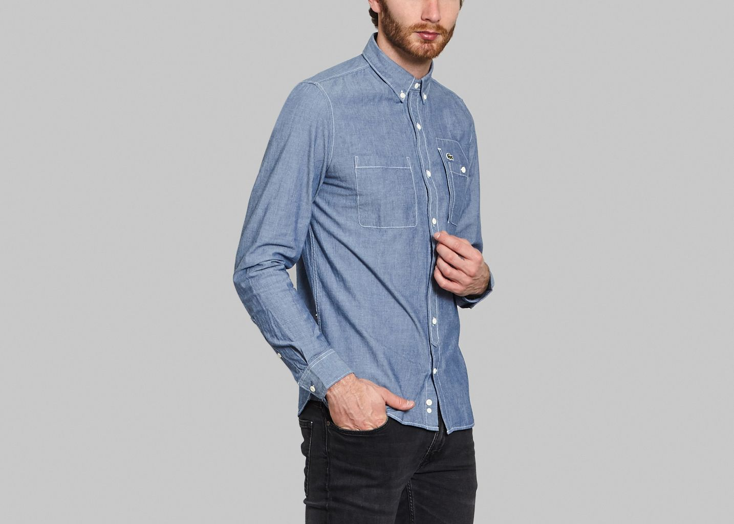 L'exception Chambray Lacoste Live Chemise Jean wIxqgn44