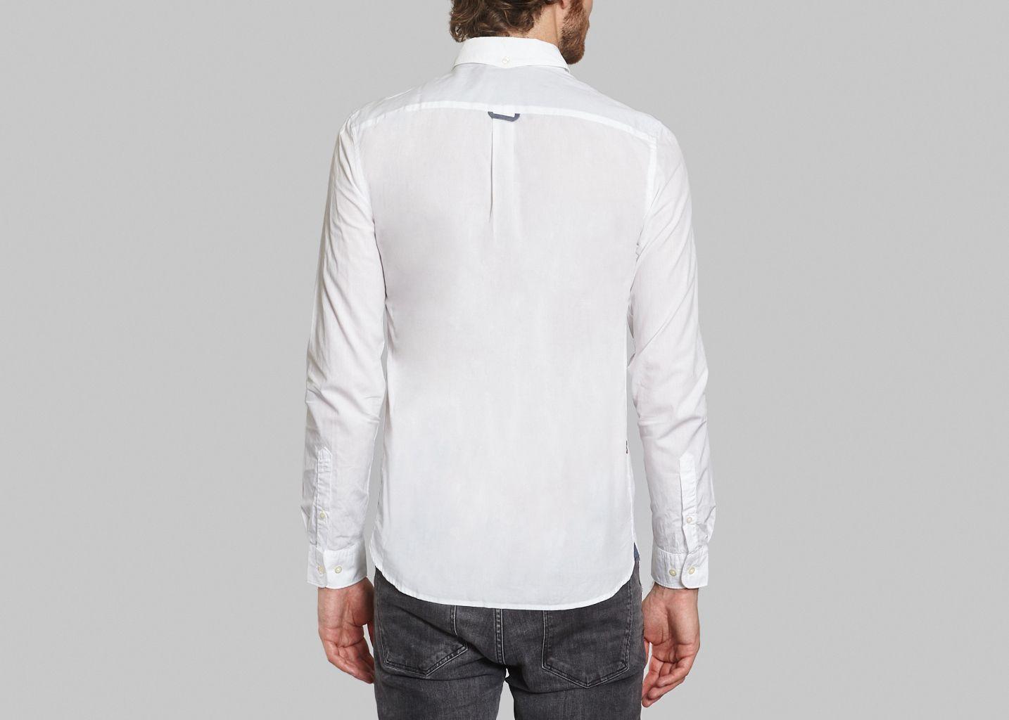 chemise classique lacoste live blanc l 39 exception. Black Bedroom Furniture Sets. Home Design Ideas