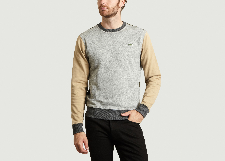 a9501207 Lacoste L Ve Croc Print Crew Neck Fleece Sweatshirt - DREAMWORKS
