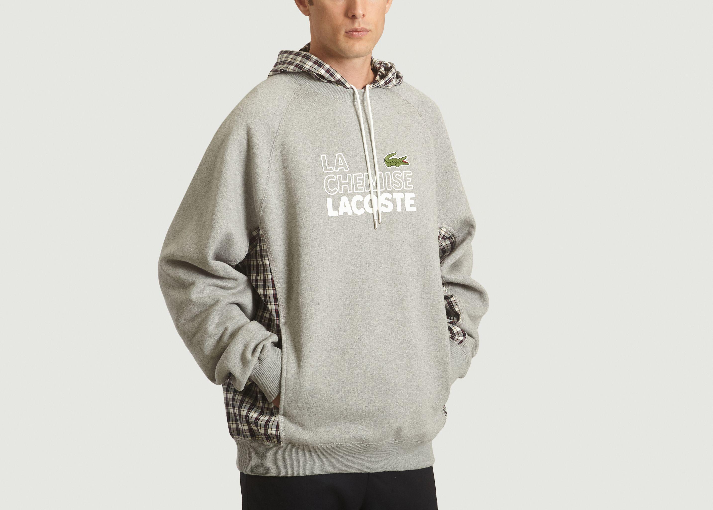 1c46d83328f44 Sweatshirt À Capuche Édition Défilé Gris Lacoste Live | L'Exception