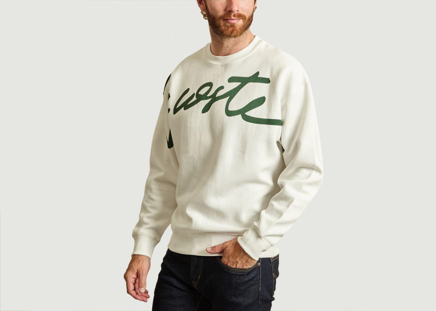 Sweatshirt Signature Blanc Lacoste Live |