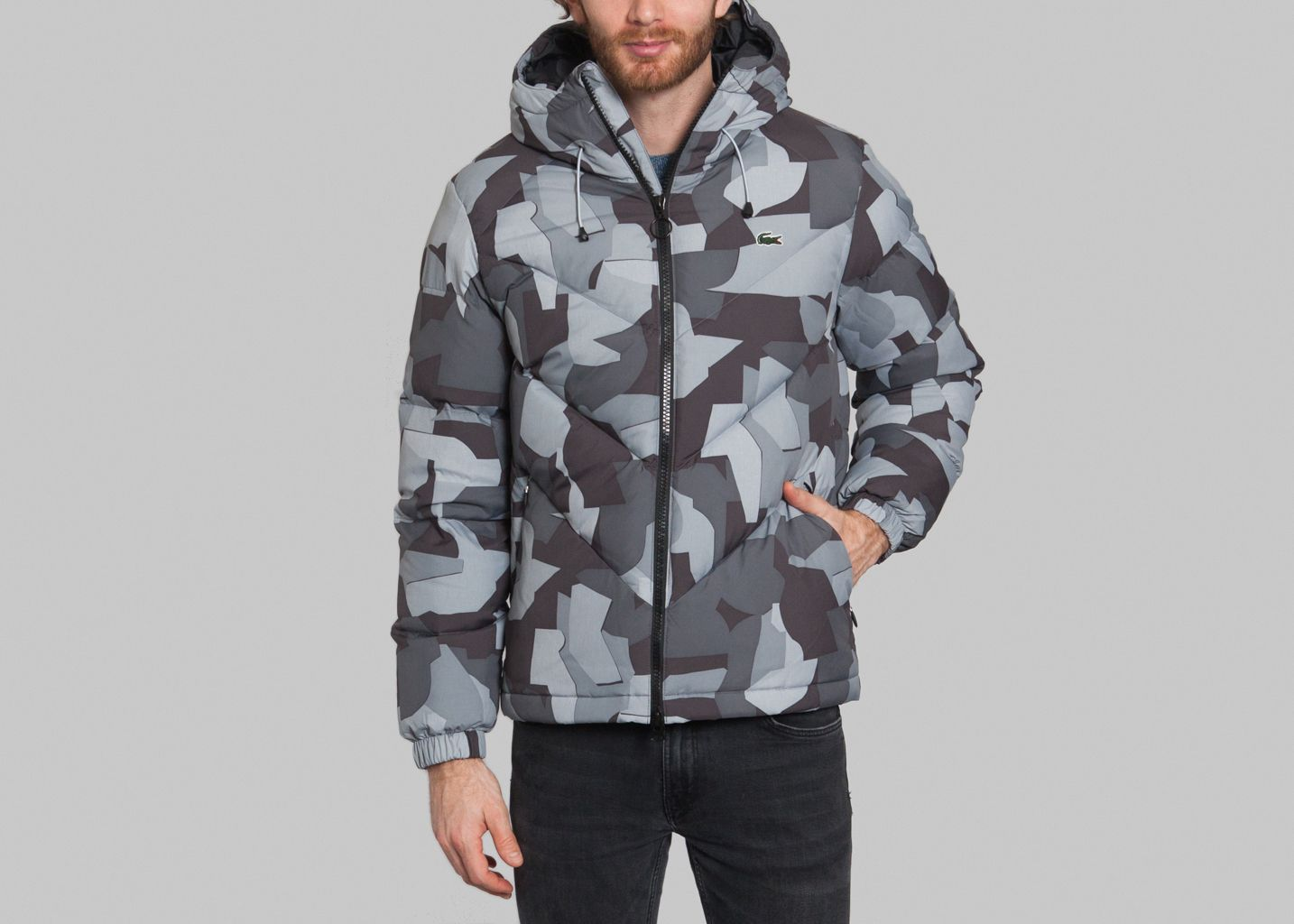 cea965206a757 Militaire Padded Jacket Grey Lacoste Live