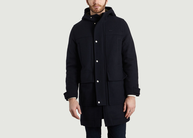 9693dd2ec7e6 Wool Duffle Coat Navy Blue Lacoste Live