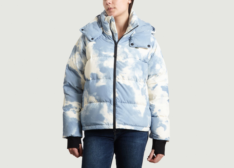 28eb7353f2f92 Cloud Printed Puffer Jacket Azur Lacoste Live