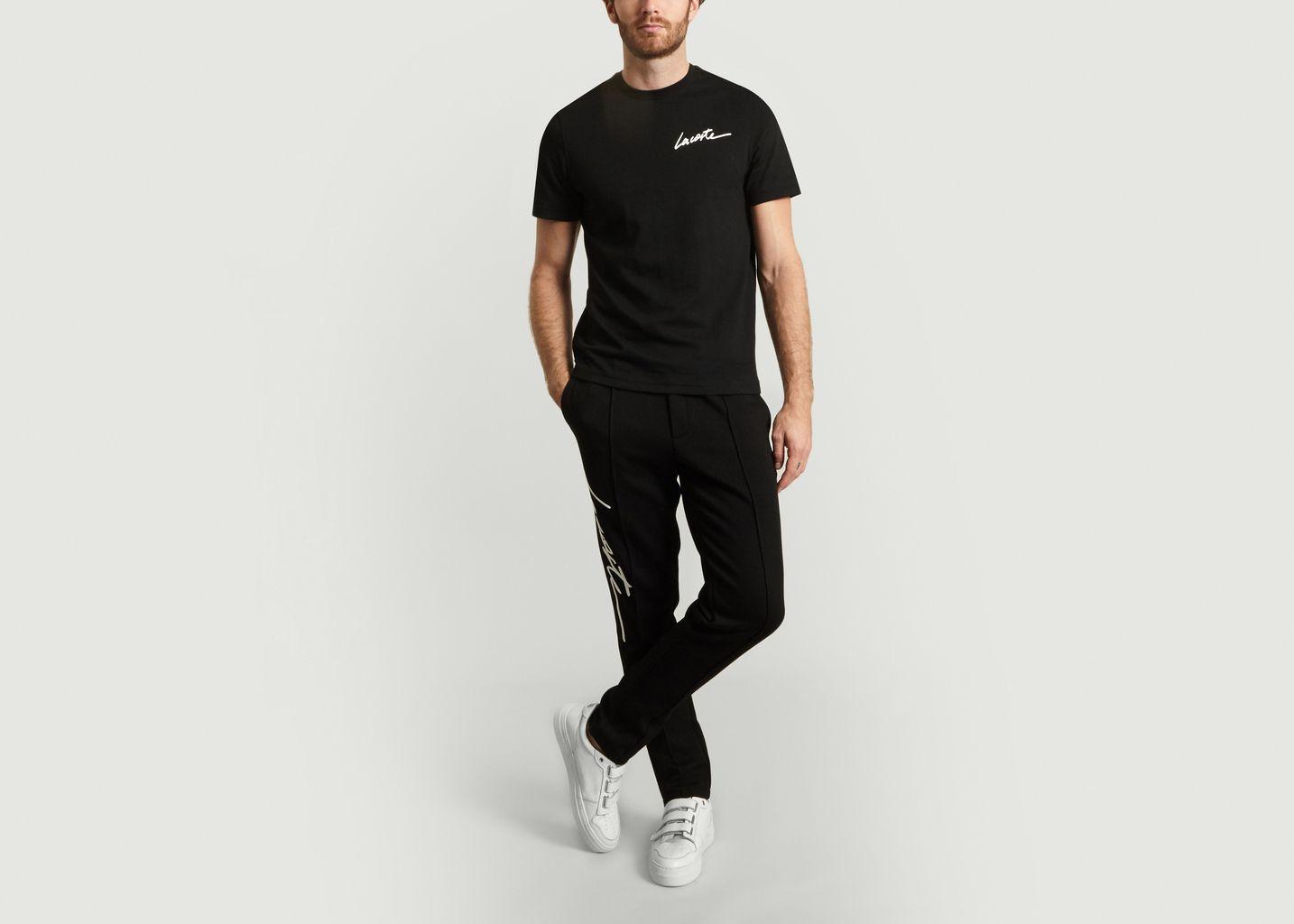 Pantalon Jogging Noir Lacoste Live  14b8d388a1e