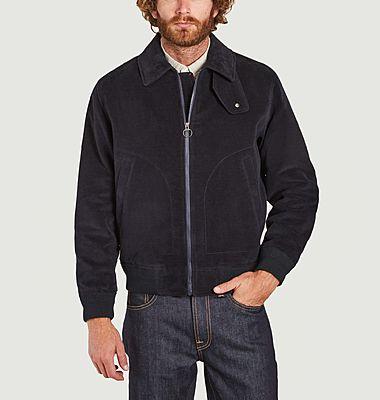 Cotton moleskin zipped jacket