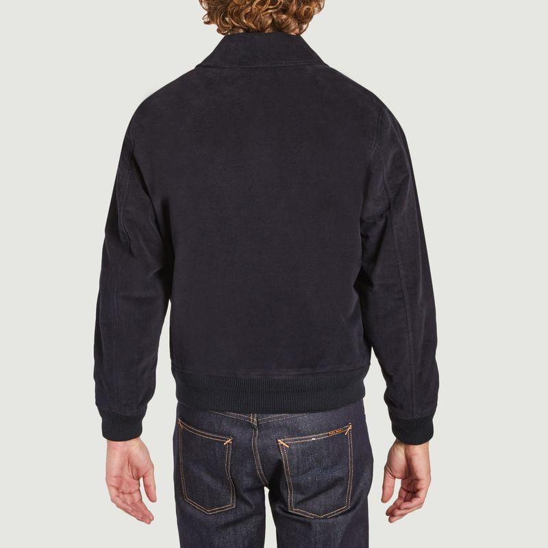 Blouson zippé en moleskine de coton - Lacoste