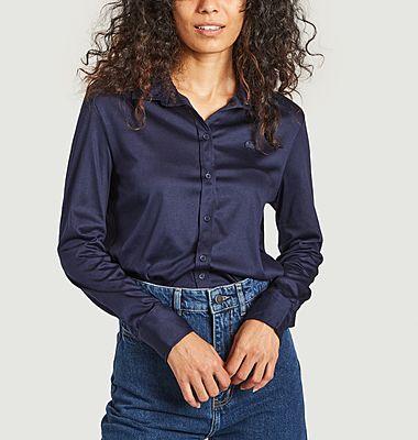 Polo manches longues loose en coton pima