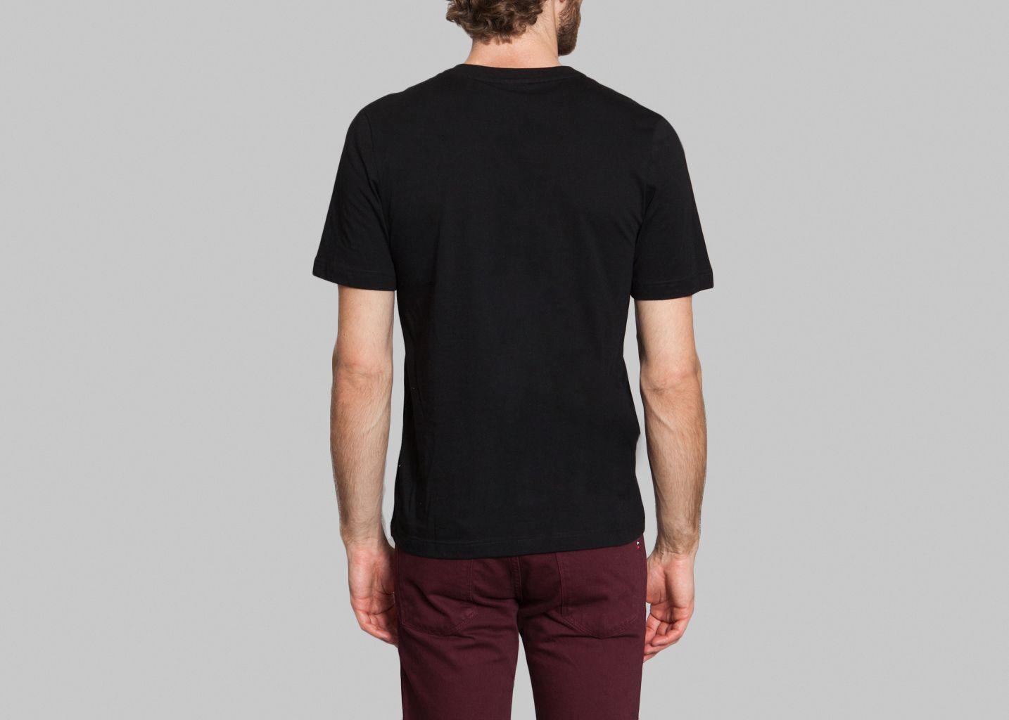 3d5d9b286ef Tshirt Col V Noir Lacoste Live