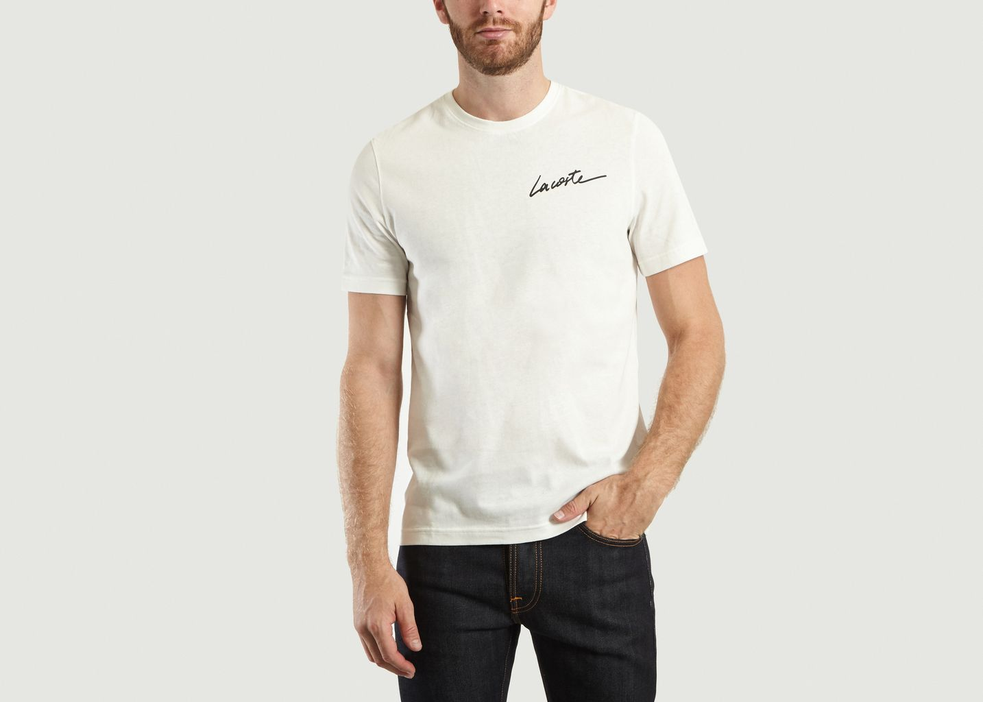 L'exception T Lacoste Live Blanc Shirt Signature XOO8xCwpq