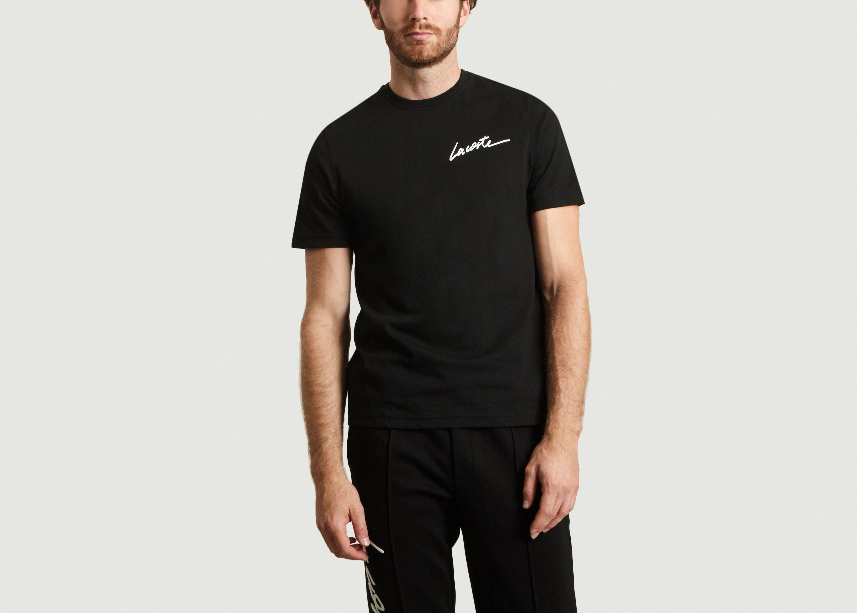 433dee7f3ea1 Signature T-shirt Black Lacoste Live