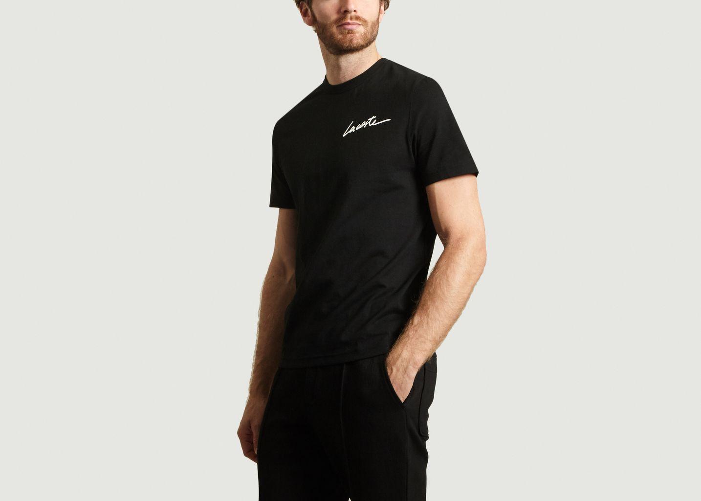 À T Lacoste Noir 30 Soldes Signature L'exception Shirt Live gIYw1