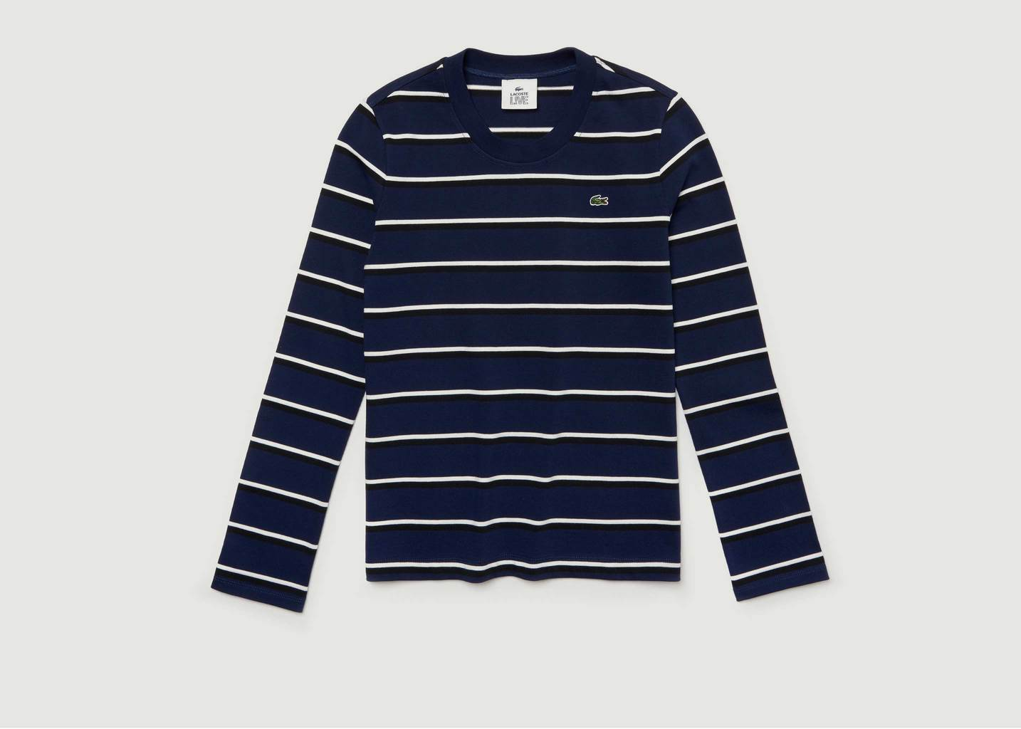 T-Shirt Rayures Manches Longues - Lacoste Live