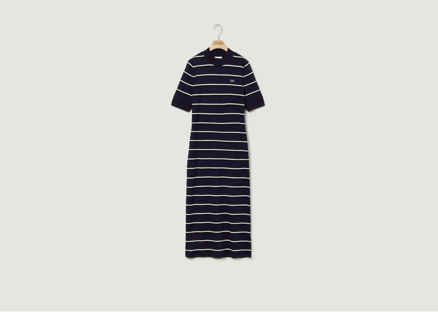 Robe Tube Rayée Manches Courtes - Lacoste Live