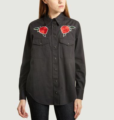 Chemise Avec Roses Brodées