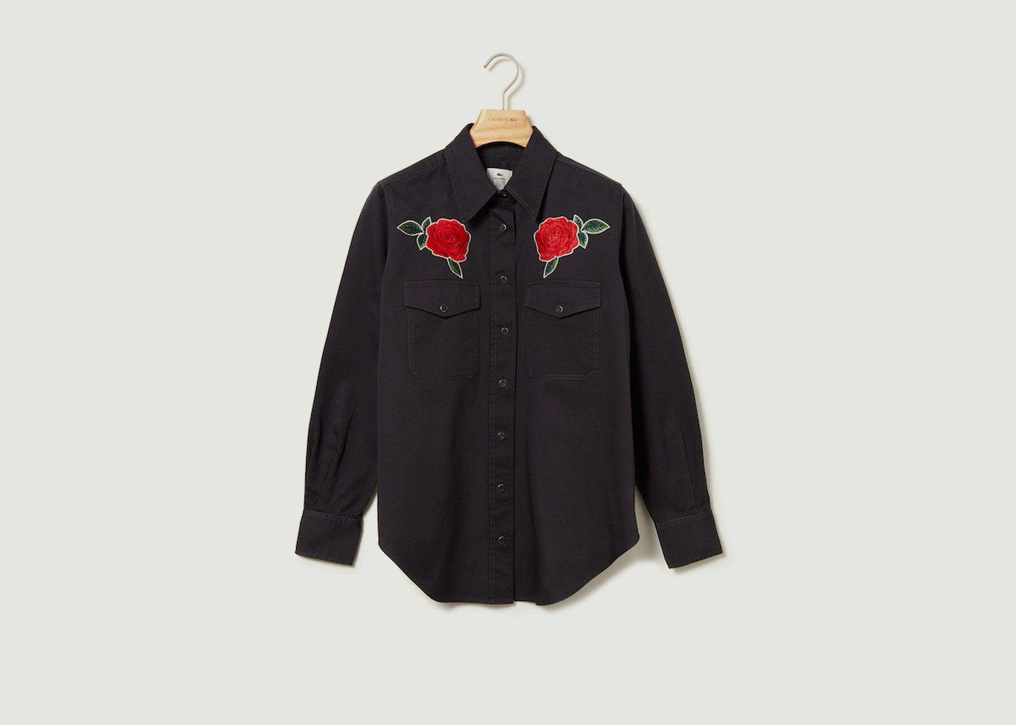 Chemise Avec Roses Brodées - Lacoste Live