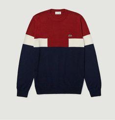 Pull En Coton Et Laine Tricolore