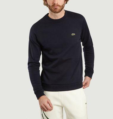 Sweatshirt Molleton Col Rond Marine