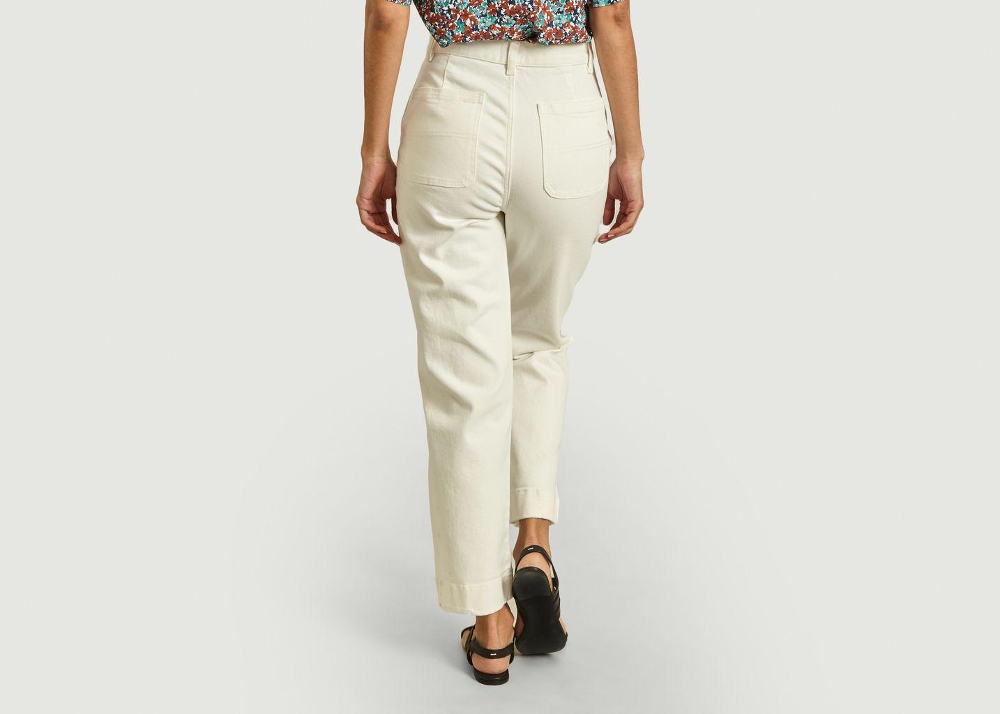 Pantalon droit en coton taille haute - Lacoste Live