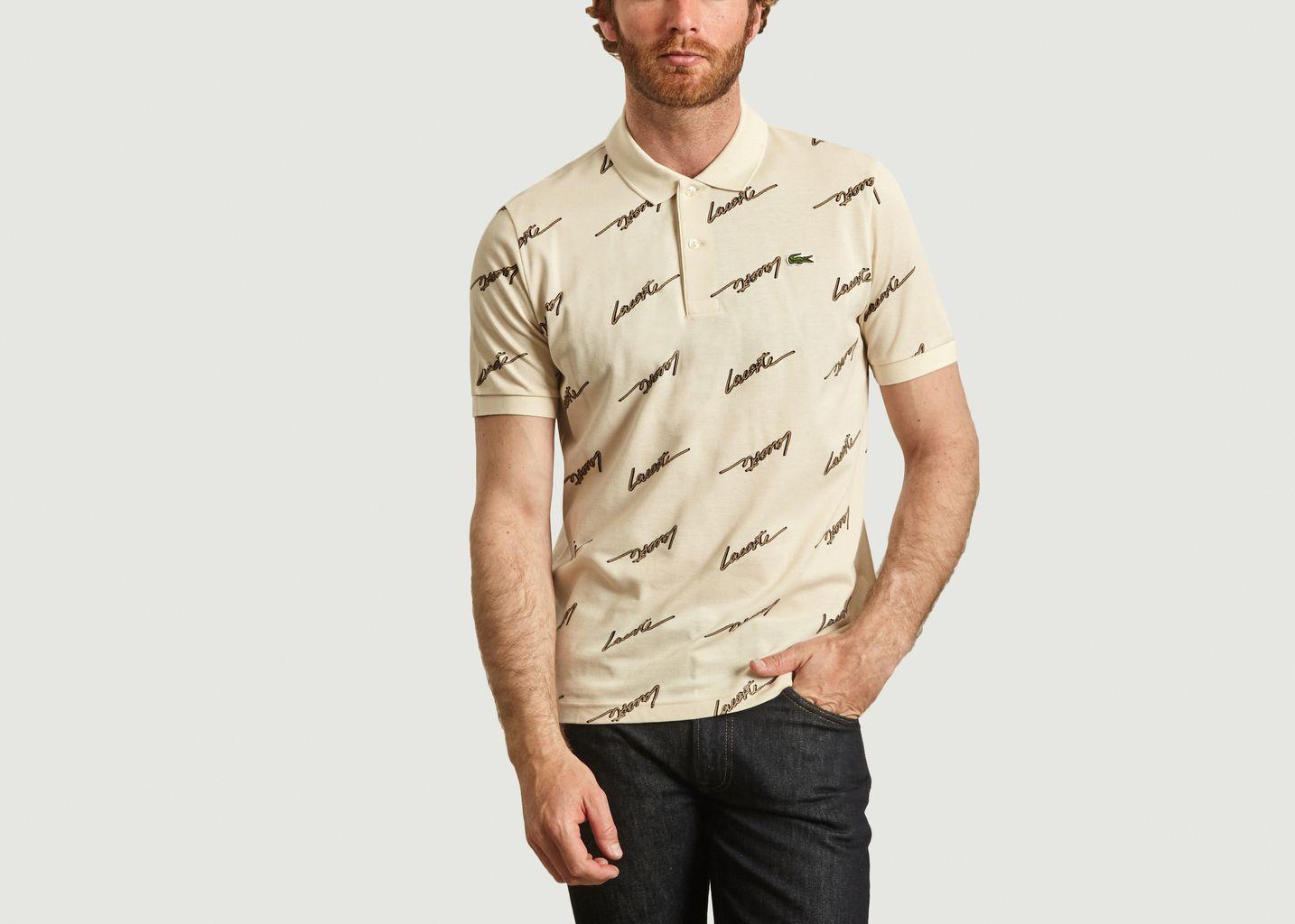 Polo en coton avec logo all-over - Lacoste Live