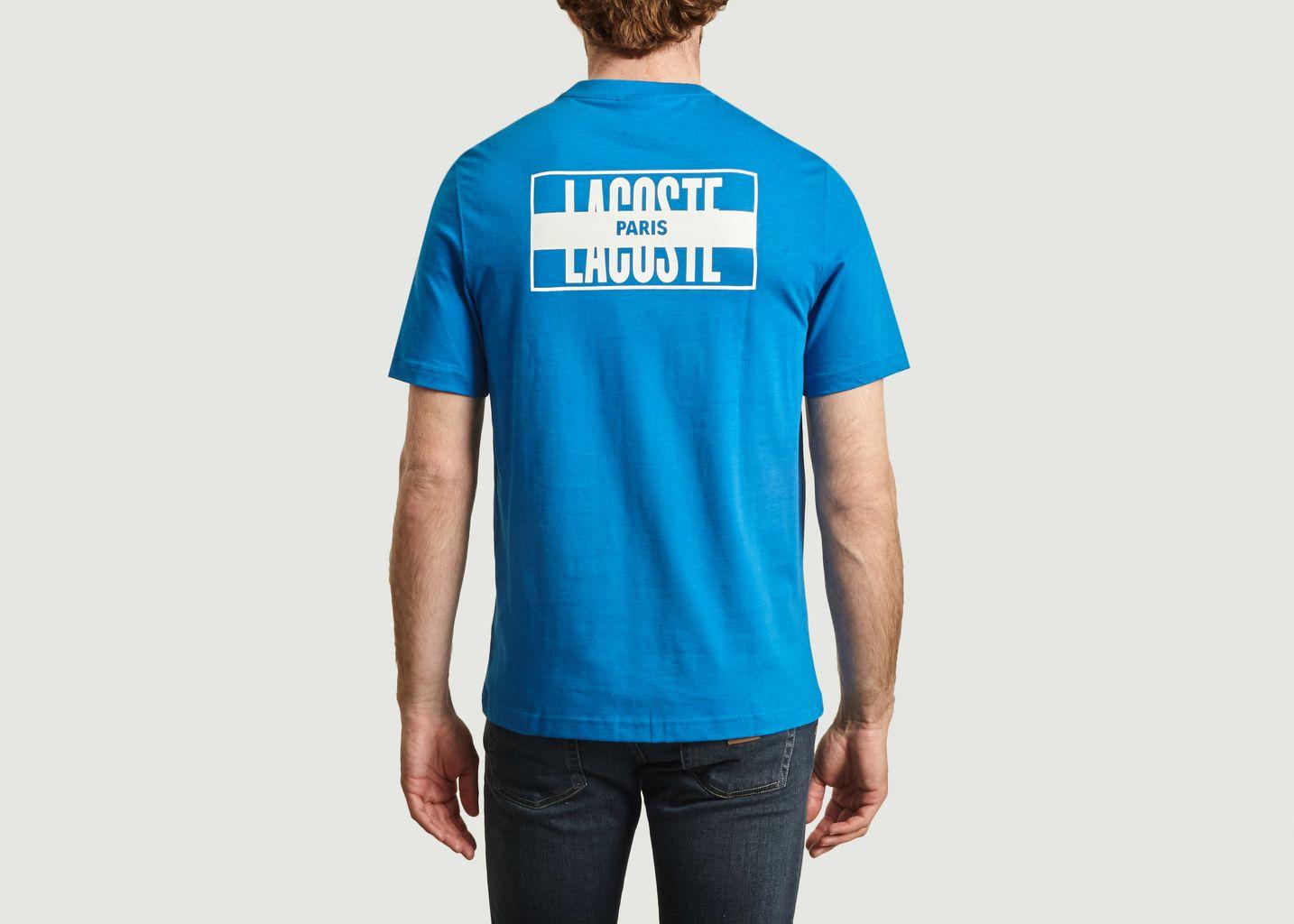 T-shirt en coton avec imprimé logotypé au dos - Lacoste Live
