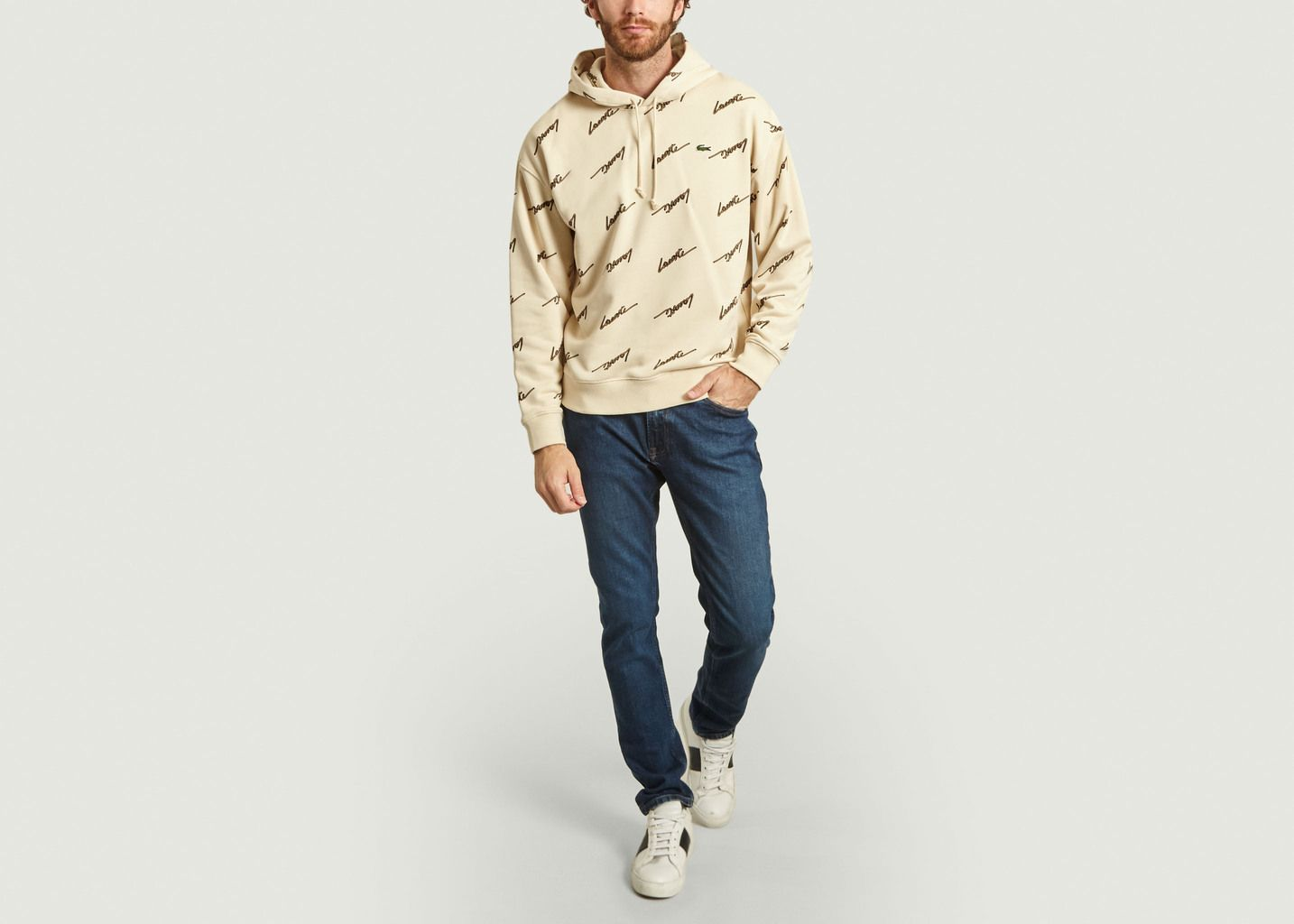 Hoodie logotypé all-over - Lacoste Live