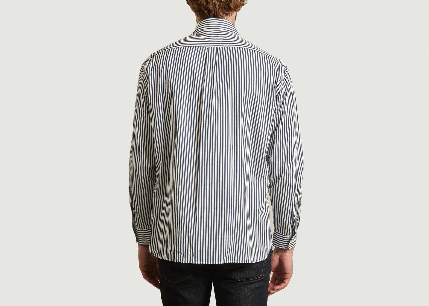 Chemise rayée boxy fit avec patch logotypé - Lacoste Live