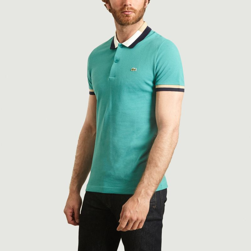 Polo slim fit à bords contrastés - Lacoste