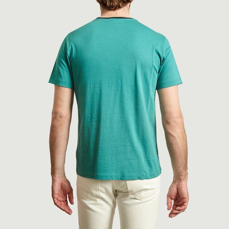 T-shirt en coton à col contrasté - Lacoste