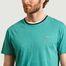 matière T-shirt en coton à col contrasté - Lacoste