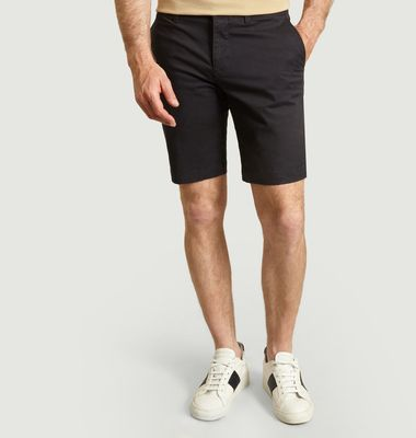 Slim fit cotton bermuda shorts