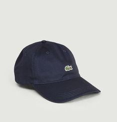 Contrast strap end crocodile cotton cap