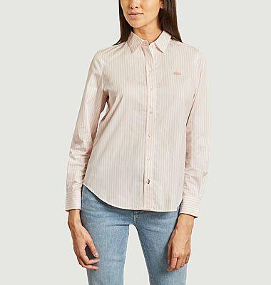 Chemise droite rayée
