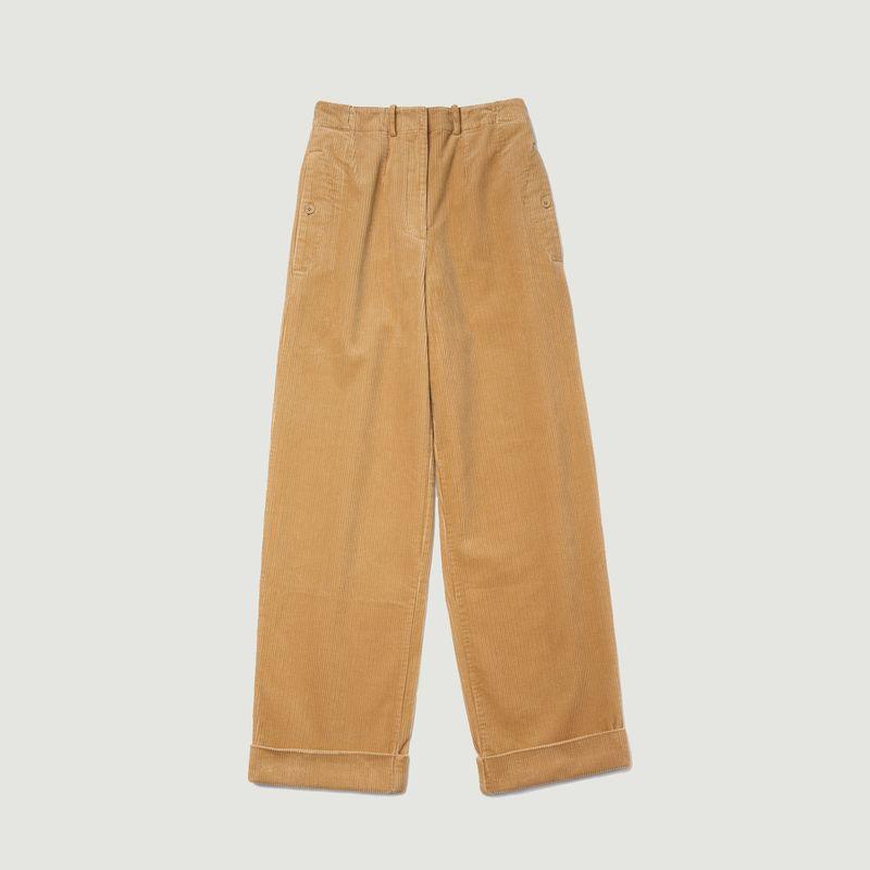 Pantalon en velours coupe ample taille haute - Lacoste Live