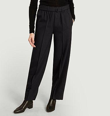 Pantalon évasé taille haute