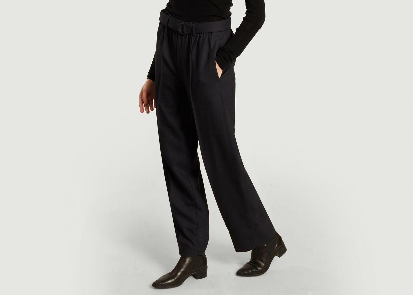 Pantalon évasé taille haute - Lacoste