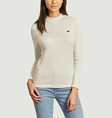 Ribbed long sleeves t-shirt with logo