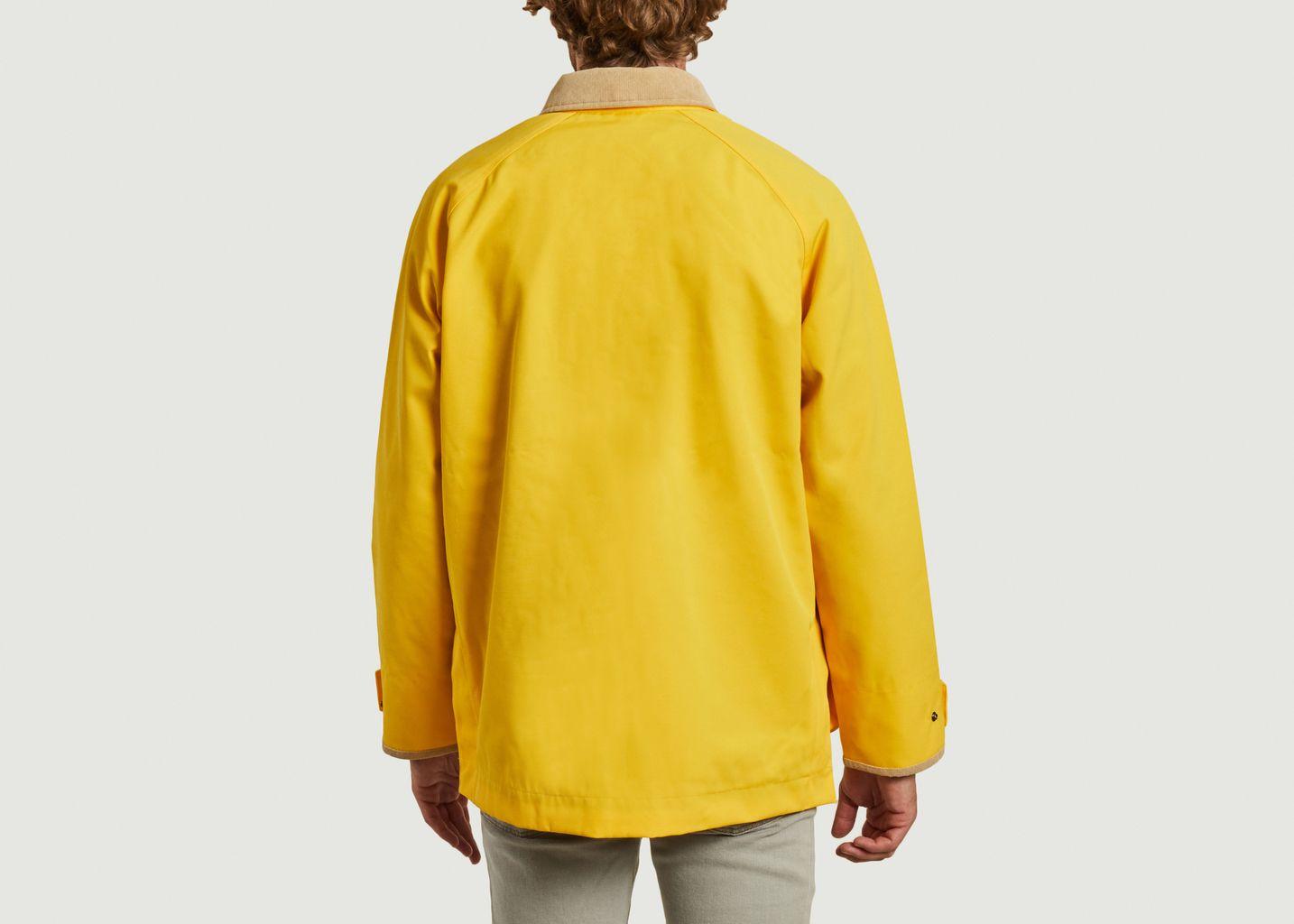 Veste en toile avec col contrasté en velours côtelé - Lacoste Live