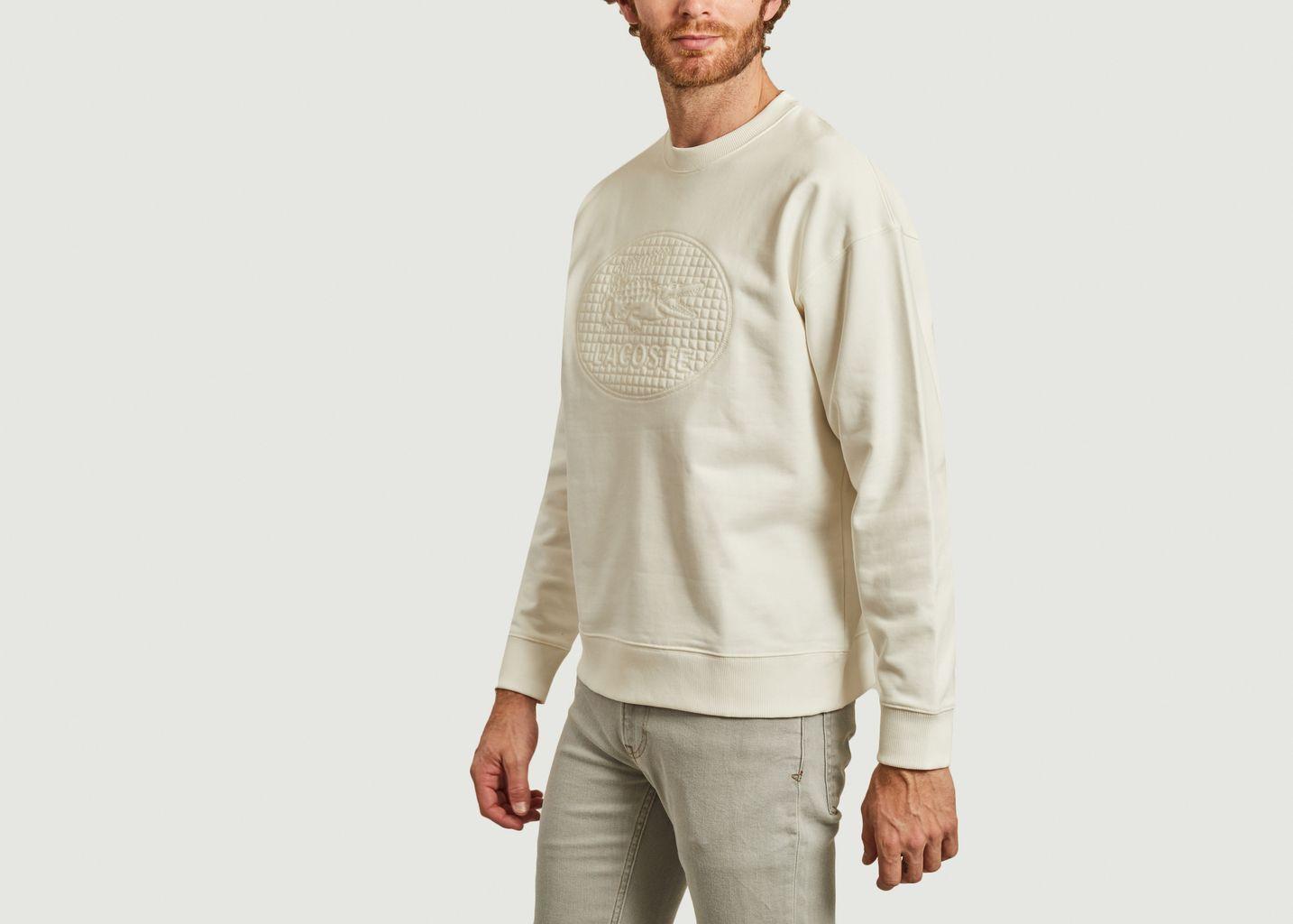 Sweatshirt loose avec logo matelassé - Lacoste Live