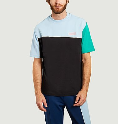 T-shirt colorblock en coton et néoprène