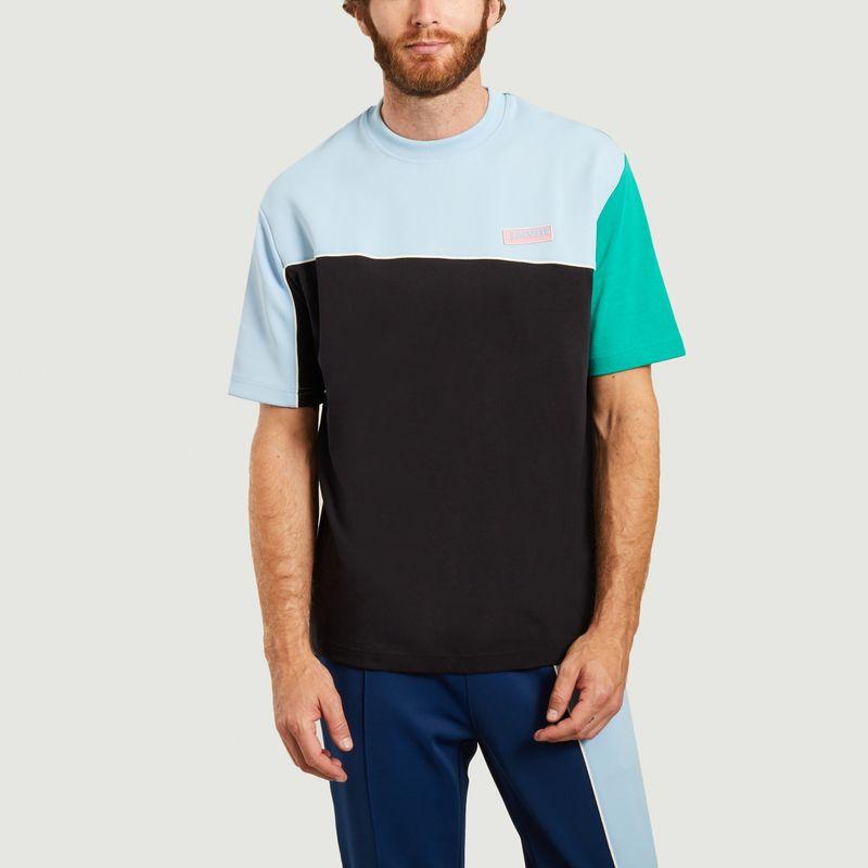T-shirt colorblock en coton et néoprène - Lacoste Live