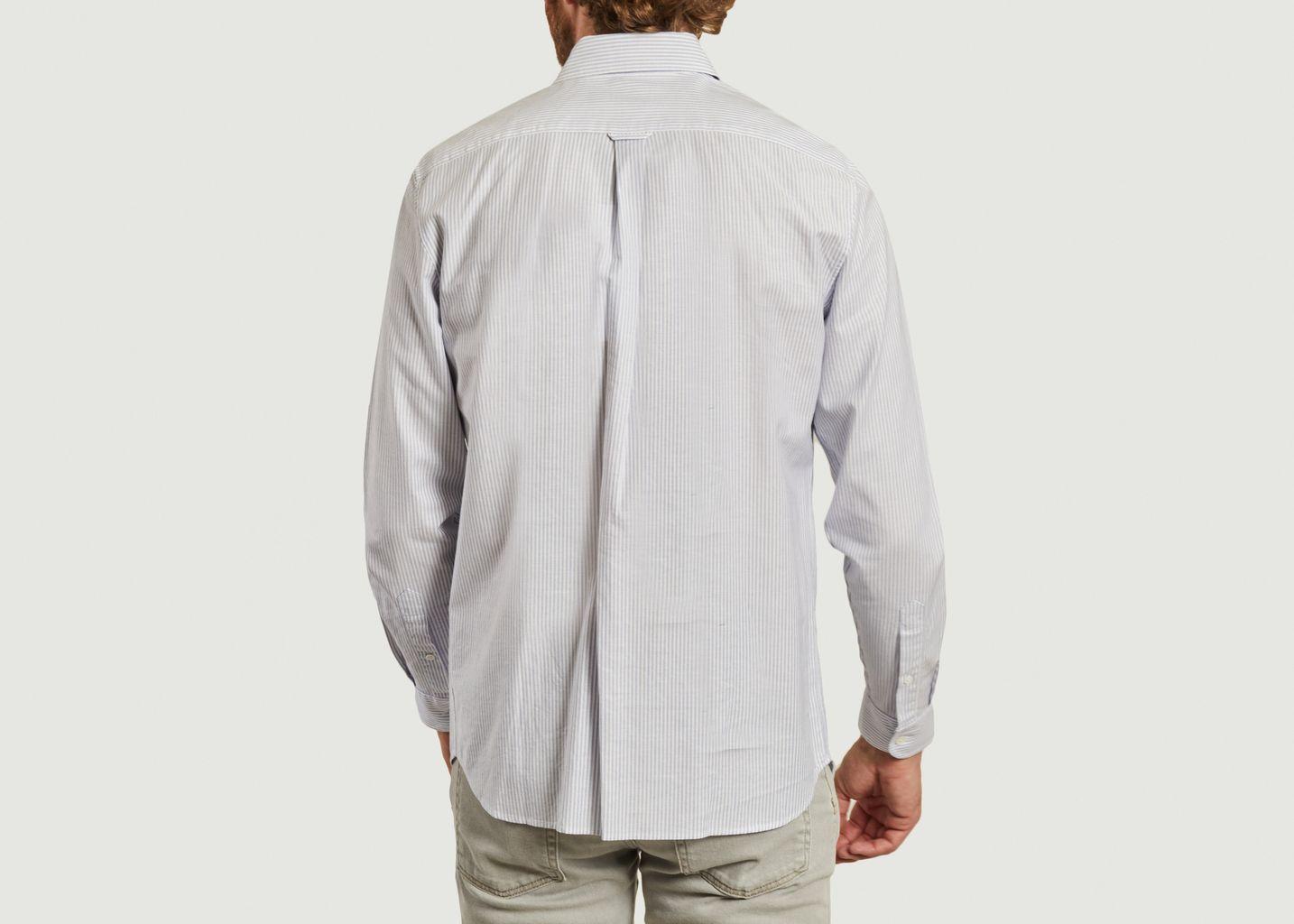 Chemise rayée en coton Oxford - Lacoste